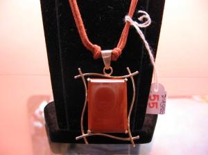 Collana Diaspro rosso cod.QO