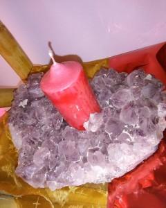 Porta candela Ametista