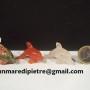 Delfini in pietredure varieDim. quarzo rosa4x1,5x2,5(h)cm - Prezzo 8¤