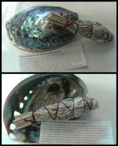 Incenso Sciamanico di Salvia Bianca con conchiglia di abalone